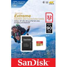 Карта памяти SanDisk 32GB microSDHC C10 UHS-I R90/W40MB/s 4K Extreme